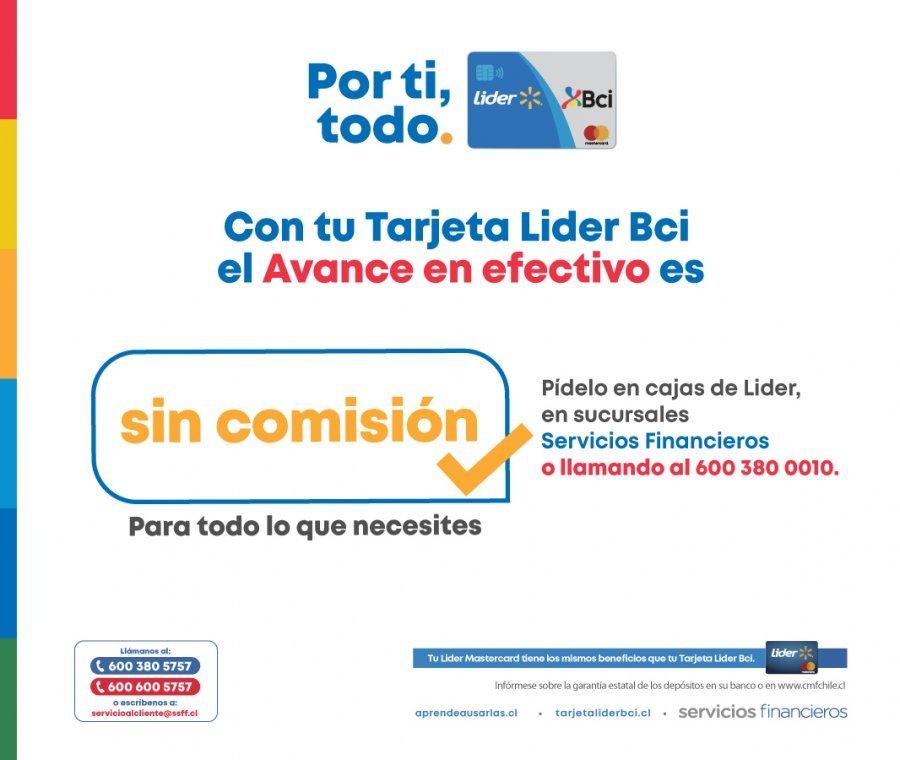 SuperAvance y Avance Tarjeta Lider Bci Credito Consumo