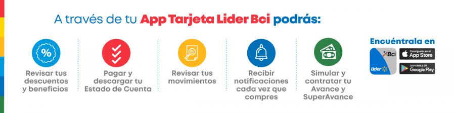 Descarga app Tarjeta Lider Bci