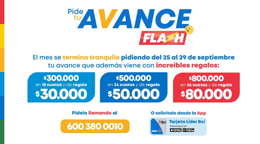 Avance Flash Tarjeta Lider Bci Credito Consumo