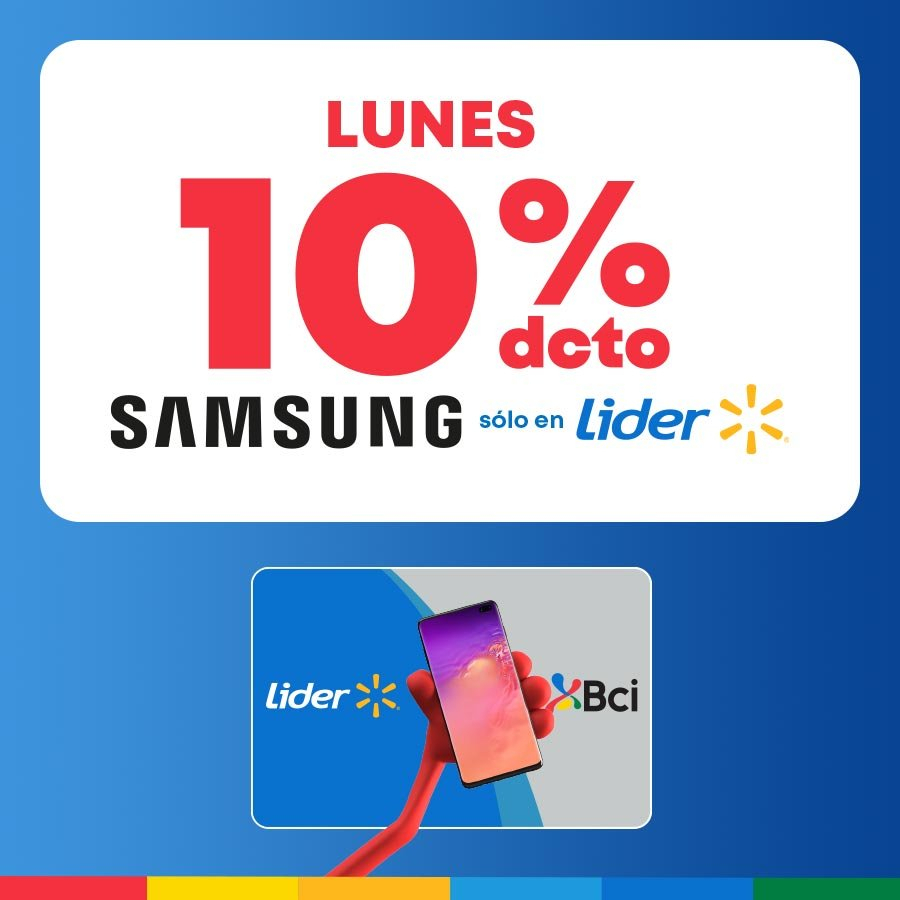 10% dcto los lunes Samsung